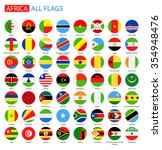 flat round flags of africa  ... | Shutterstock .eps vector #354948476