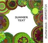 doodle summer frame from season ... | Shutterstock .eps vector #354953714