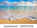 enjoying paradise in hawaii  | Shutterstock . vector #354957638