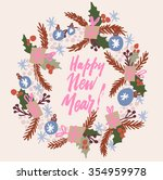 hand drawn elegant new year and ... | Shutterstock .eps vector #354959978