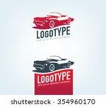 vintage style car repair... | Shutterstock .eps vector #354960170