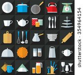 set of kitchenware flat style... | Shutterstock .eps vector #354964154