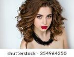 portrait of a beautiful... | Shutterstock . vector #354964250