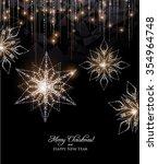 elegant snowflake decoration... | Shutterstock .eps vector #354964748