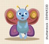 butterfly theme elements vector ... | Shutterstock .eps vector #354969230