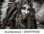 indian woman hunter | Shutterstock . vector #354979550