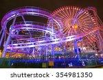Light Up Of Amusement Park In...