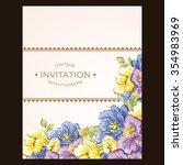 vintage delicate invitation... | Shutterstock .eps vector #354983969