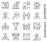 corporate business icon set... | Shutterstock .eps vector #354985070