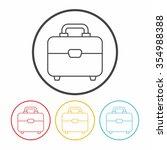 briefcase line icon | Shutterstock .eps vector #354988388