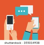 smartphone concept with... | Shutterstock .eps vector #355014938