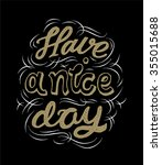 have a nice day. vector black... | Shutterstock .eps vector #355015688