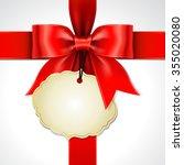 illustration of red ribbon bow...   Shutterstock .eps vector #355020080