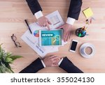business team concept   review | Shutterstock . vector #355024130