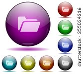 set of color folder open glass...