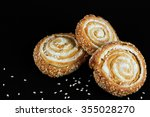 cookies with cream filling and... | Shutterstock . vector #355028270