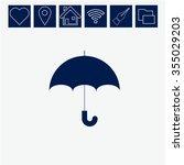 umbrella vector icon | Shutterstock .eps vector #355029203