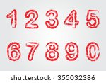 grunge  numbers.hand drawn... | Shutterstock .eps vector #355032386