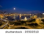 magic hour of hong kong... | Shutterstock . vector #35503510