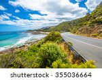 great ocean road with its...