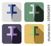 vector icon. set of colorful... | Shutterstock .eps vector #355042859