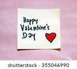 happy valentines day note | Shutterstock . vector #355046990