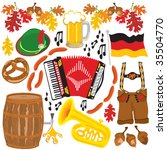 oktoberfest party clipart... | Shutterstock .eps vector #35504770