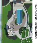 poolside master plan  3d render | Shutterstock . vector #355047998