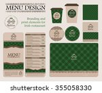 branding and print elements for ... | Shutterstock .eps vector #355058330