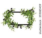 olive frame | Shutterstock .eps vector #355085459