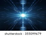 abstract lens flare space or...   Shutterstock . vector #355099679