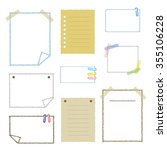 collection of hand drawn note... | Shutterstock .eps vector #355106228