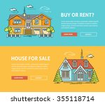 real estate flat line web... | Shutterstock .eps vector #355118714