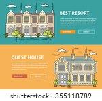 real estate market flat line... | Shutterstock .eps vector #355118789