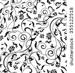 seamless pattern with flowers... | Shutterstock .eps vector #355122518