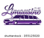 limousine isolated on white...