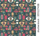 seamless pattern with... | Shutterstock .eps vector #355127438