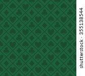 green pattern fabric poker table   Shutterstock .eps vector #355138544