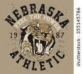 tiger athletic team .sports t... | Shutterstock .eps vector #355145786