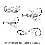 set of drawing vintage scroll | Shutterstock .eps vector #355146818