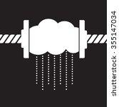 rainmaker   squeeze rain drops ... | Shutterstock .eps vector #355147034