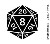 20 sided   20d dice with... | Shutterstock .eps vector #355147946