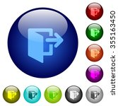 set of color logout glass web...