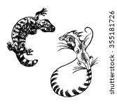 graphic image of lizards | Shutterstock .eps vector #355181726