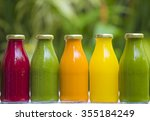 organic cold pressed raw... | Shutterstock . vector #355184249