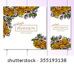 vintage delicate invitation... | Shutterstock .eps vector #355193138