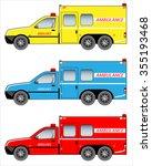 ambulance pickup car | Shutterstock .eps vector #355193468