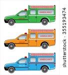ambulance pickup car | Shutterstock .eps vector #355193474