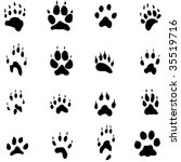 Animal Footprints Silhouette