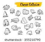 cheese collection. vector... | Shutterstock .eps vector #355210790